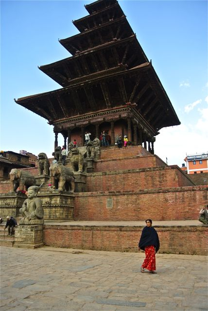 One of Bhaktapur's most famous temples; I played a concert on these steps in 1983.