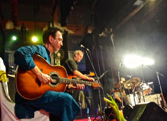 Mynta in concert, looking toward Max and Christian