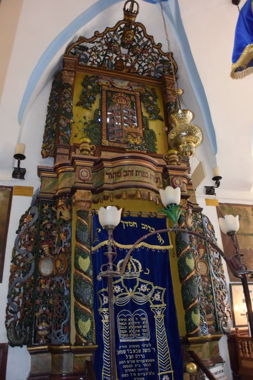The Bima: the ornate container of the blessed Torah scrolls