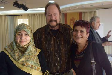 Iranian nurse on the left; Palestinian nurse on the right
