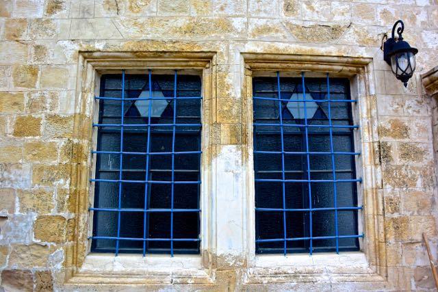 Ancient Tzvat synagogue windows