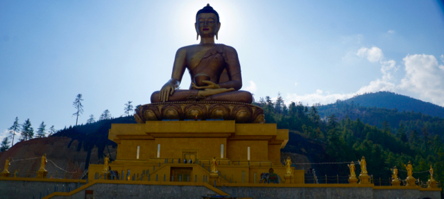 The world's third largest Buddha statue at over 150 feet tall
