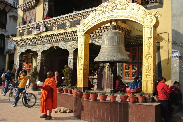 One of many bells at the Bouda stupa
