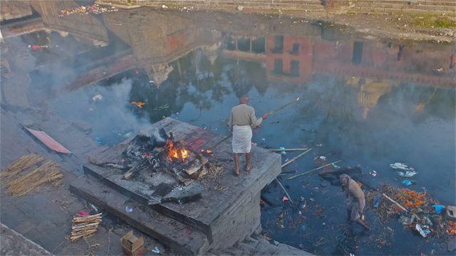 Dust to dust--Crematorium at Hindu temple in Katmandu