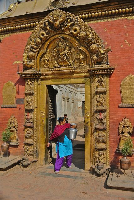 Bhaktapur:  Door to former palace, now a museum