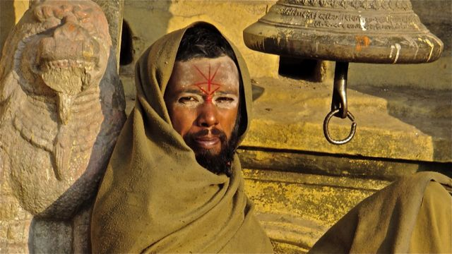 Sadhu-Hashish is his spiritual path, hanging out with the temple bell