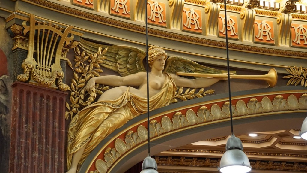 Detail above the stage