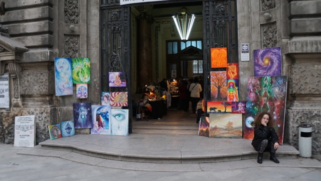 Art sale in a historic building