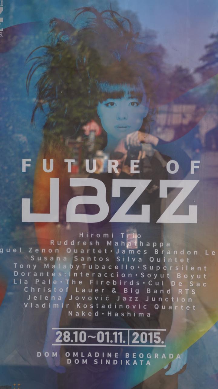 Poster publicizing upcoming Belgrade jazz festival