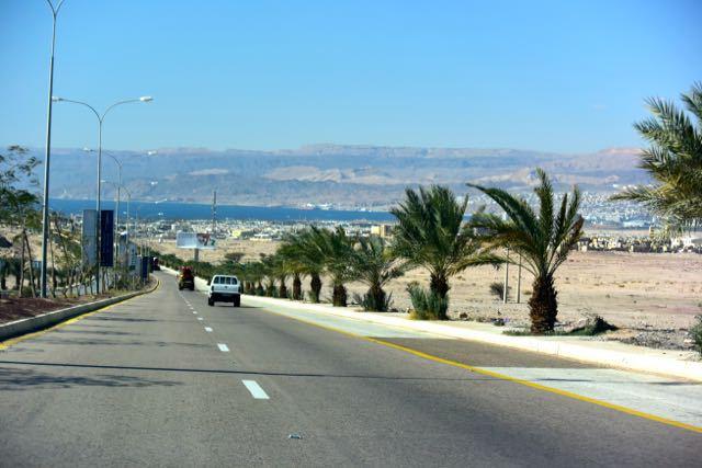 The road into Aqaba