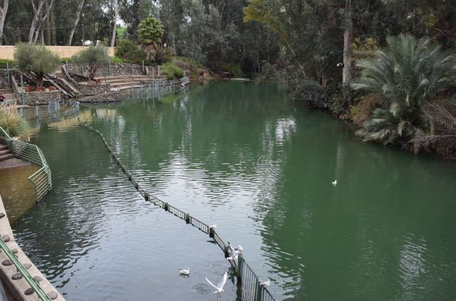 Headwaters of the Jordan River showing baptismal site