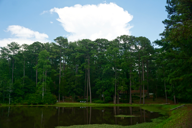 """My home on the lake at my Alabama """"country place,"""" where I spent my first eighteen years"""
